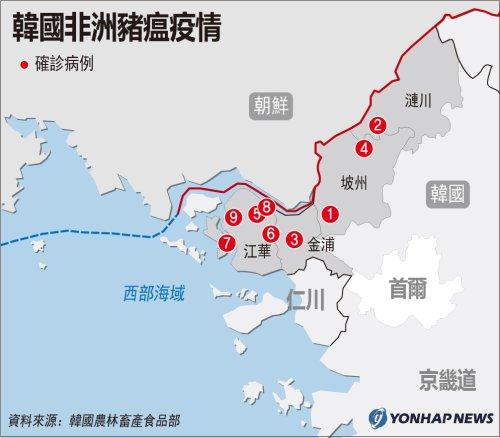 南韓非洲豬瘟疫情