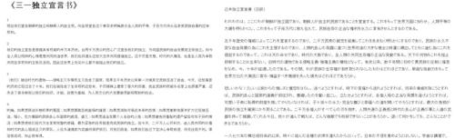 韓民團VANK發佈《三一獨立宣言書》中文譯本
