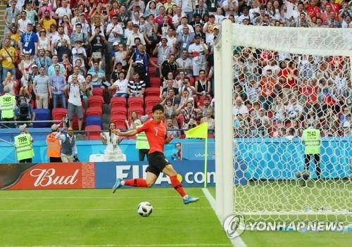 簡訊:世界盃小組賽南韓2比0戰勝德國