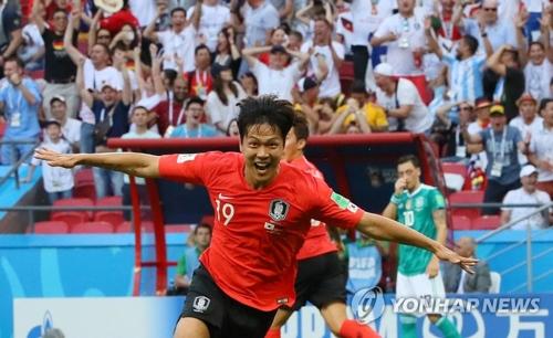 詳訊:世界盃小組賽南韓2比0戰勝德國