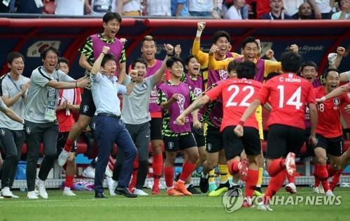 世界盃南韓軍團完勝德國製造大逆轉