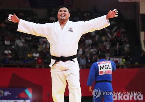 亞運男子100公斤柔道賽南韓金成民奪冠