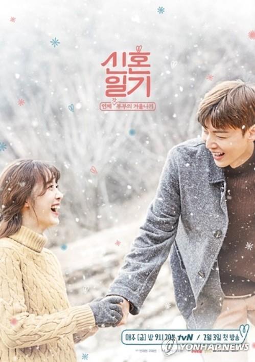 具惠善與安宰賢參與拍攝的綜藝《新婚日記》海報
