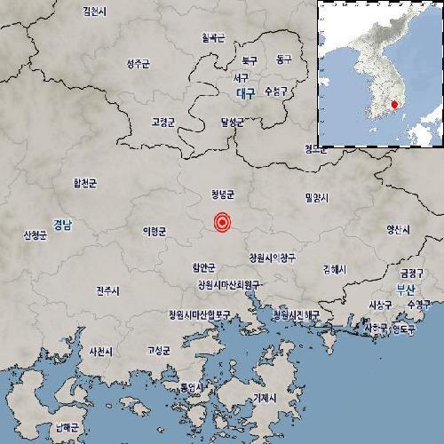 南韓慶尚南道發生3.4級地震