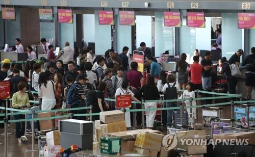 今年第三季度赴日南韓遊客同比銳減15%