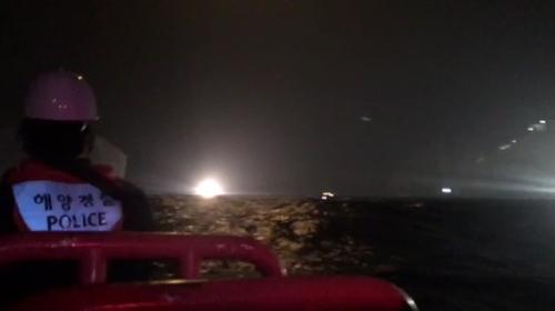 韓一架消防直升機墜海 7人下落不明