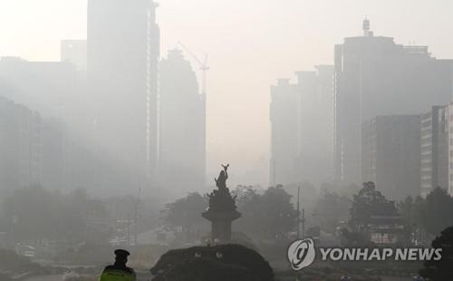 南韓各地霧霾濃度達今秋最高水準