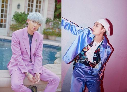 EXO燦烈和張藝興獲騰訊音樂娛樂盛典人氣獎