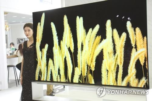 資料圖片:三星QLED電視 韓聯社