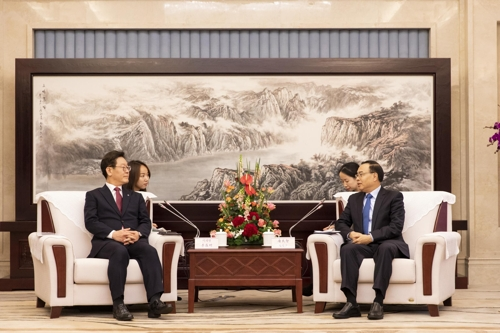 韓京畿道知事李在明訪渝會見唐良智