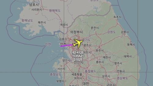 美軍偵察機再度飛臨韓半島上空