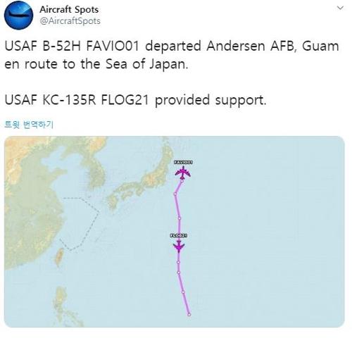 美B-52轟炸機飛臨日本或意在警告朝鮮