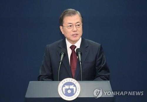 12月17日,在青瓦臺春秋館,文在寅發佈新任總理人選。 韓聯社