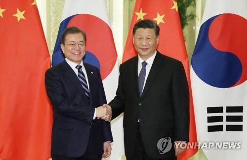 詳訊:文在寅在北京同習近平舉行會談
