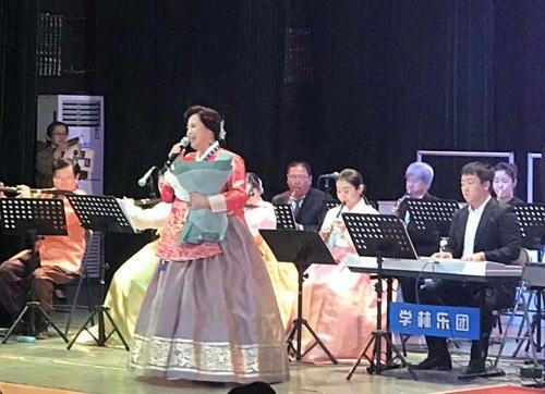 2019年9月,劉春今參加在延吉市舉行的中國建國70週年演出。 本人供圖(圖片嚴禁轉載複製)