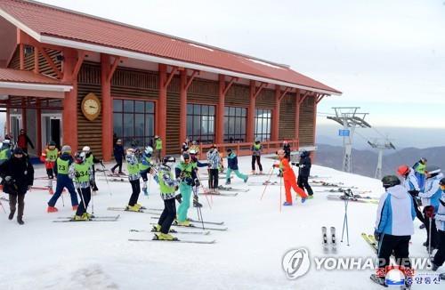 朝鮮馬息嶺滑雪場開放恰逢金正恩生日