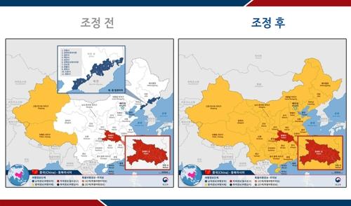 南韓發佈赴華旅遊安全預警