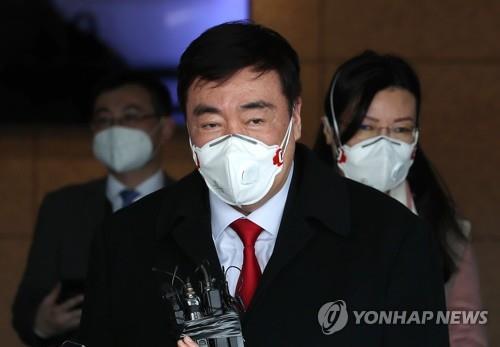 中國新任駐韓大使邢海明抵韓