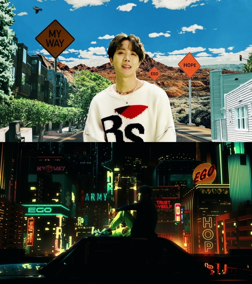 《Outro : Ego》視頻截圖 韓聯社/Big Hit娛樂供圖(圖片嚴禁轉載複製)