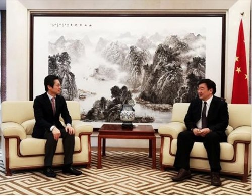 中國駐韓大使邢海明會見三星電子副社長金圓暻