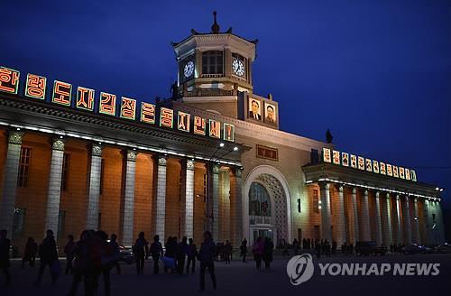 朝鮮為防疫要求進平壤火車站人員必須戴口罩
