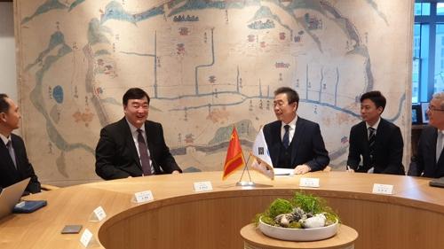 首爾市長樸元淳會見中國駐韓大使邢海明