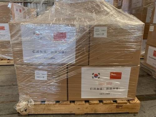 中國多地向仁川回贈防疫物資