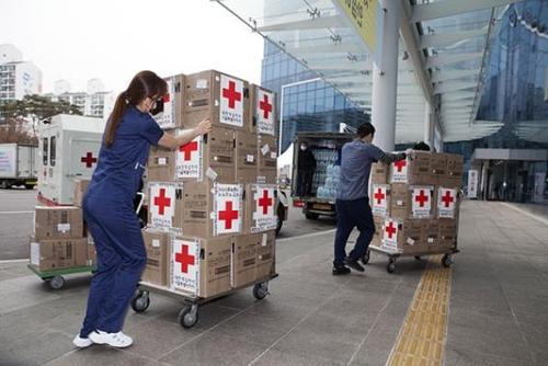 首爾醫療院收到馬雲捐贈的口罩