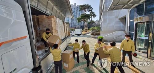 華為向大邱市教育廳捐贈防疫物資