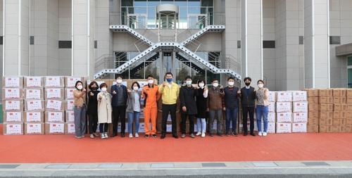 大田市收到武漢等中國五城回贈防疫物資