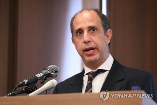 資料圖片:聯合國朝鮮人權狀況特別報告員金塔納 韓聯社