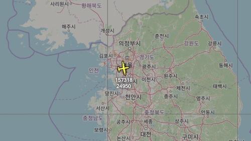 美海軍偵察機又飛臨韓半島上空