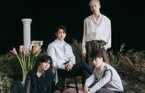 GOT7成員有謙(左起)、珍榮、BamBam和Jackson 韓聯社/JYP娛樂供圖(圖片嚴禁轉載複製)