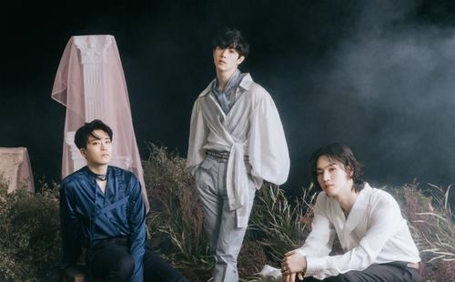GOT7成員榮宰(左起)、Mark和JB 韓聯社/JYP娛樂供圖(圖片嚴禁轉載複製)