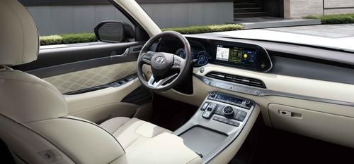 現代汽車5月6日表示,現代2020款SUV帕利塞德(Palisade)當天正式發售。圖為新款帕利塞德內部渲染圖。 韓聯社/現代起亞汽車供圖(圖片嚴禁轉載複製)