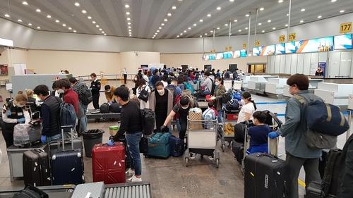 239名旅俄韓僑搭乘特別航班回國