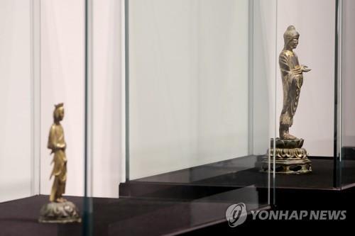 詳訊:韓澗松美術館拍賣兩件國寶佛像均流標