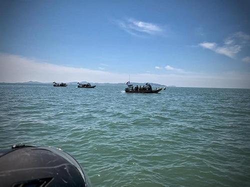 韓海軍與聯合國軍司令部在漢江入海口舉行聯合訓練