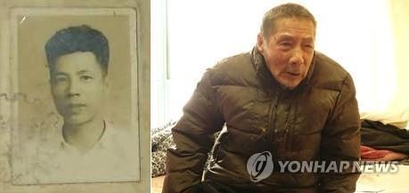 資料圖片:左為蘇景和年輕時的照片,右為101歲高齡的蘇景和。韓聯社