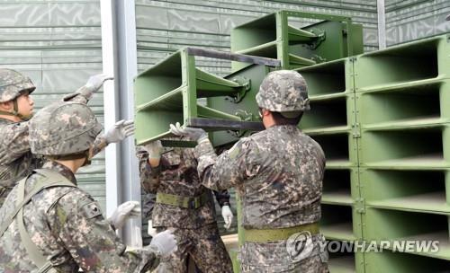 詳訊:朝鮮正在重裝對韓喊話擴音器