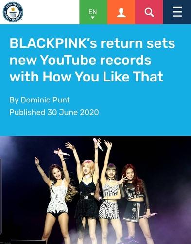 BLACKPINK新歌MV創五大紀錄被載入吉尼斯