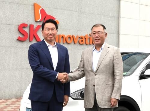 現代SK掌門共商電動汽車電池合作大計