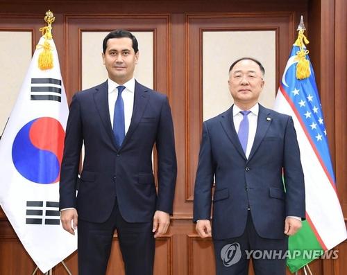 南韓烏茲別克經濟副總理會晤