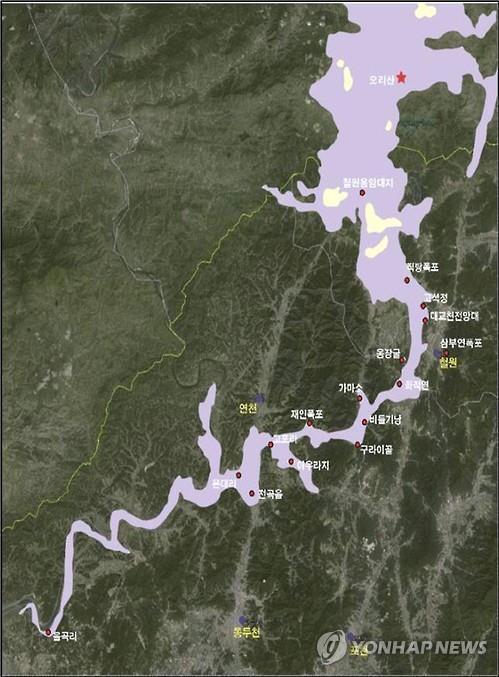 資料圖片:漢灘江地質公園圖 京畿道政府供圖(圖片嚴禁轉載複製)