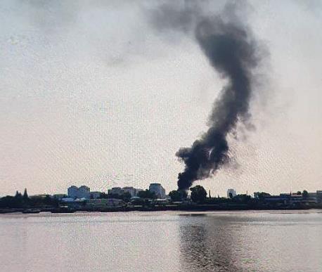 消息:朝鮮新義州一火車站上周發生大火