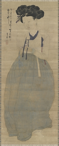 《美人圖》 韓聯社/國立中央博物館(圖片嚴禁轉載複製)