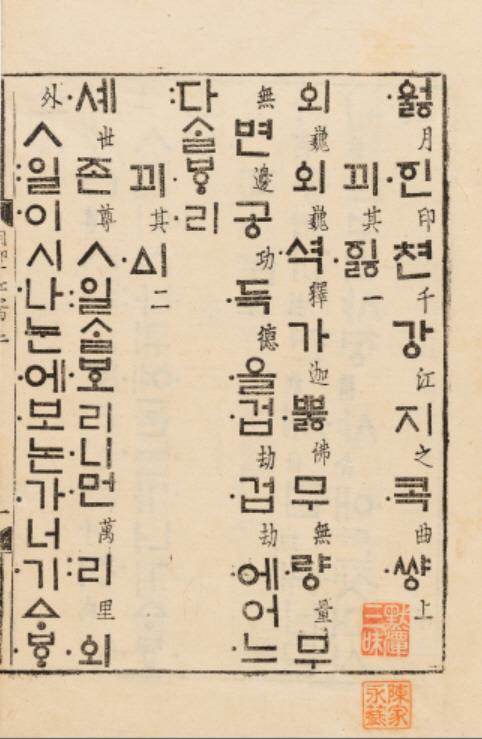 《月印千江之曲-上卷》 韓聯社/國立中央博物館(圖片嚴禁轉載複製)