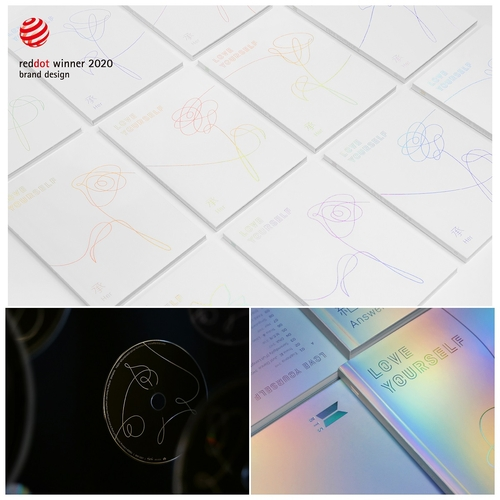 防彈《LOVE YOURSELF》系列專輯包裝設計榮獲紅點獎