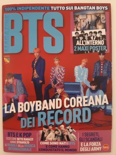 資料圖片:義大利雜誌社Sprea S.p.A.6月首發的期刊《BTS》封面 韓聯社