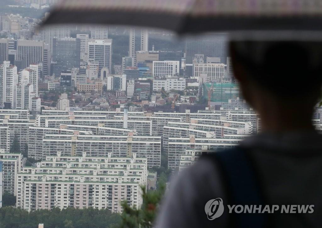 資料圖片:首爾市江南區的公寓 韓聯社